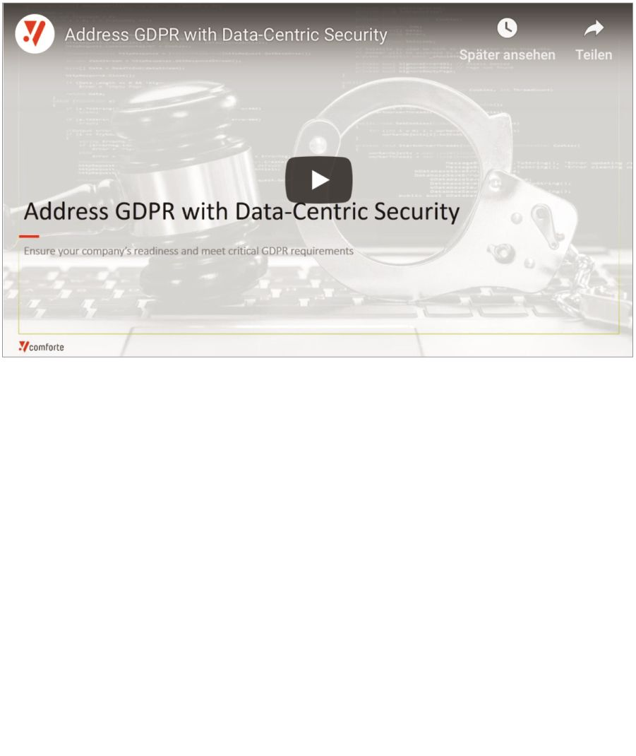 Webinar: How to Address GDPR with Data-Centric Security