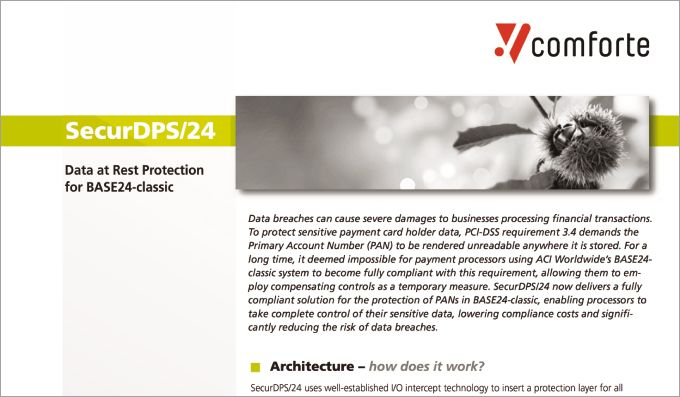 Fact sheet: SecurDPS/24 -Data at Rest Protection for BASE24-classic