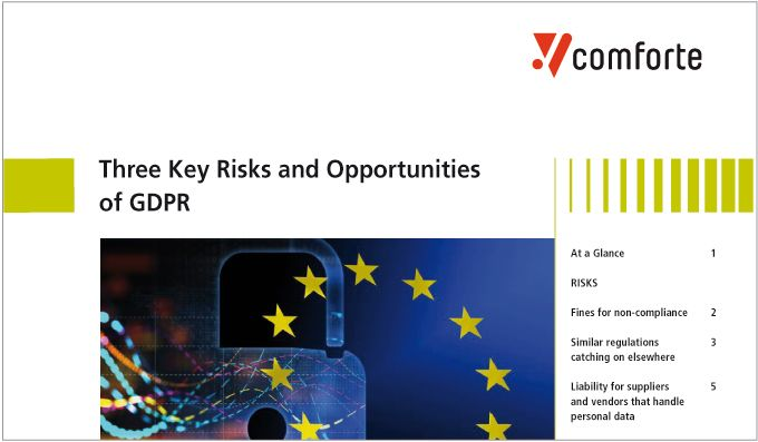 Whitepaper: Three Key Risks & Opportunities of GDPR