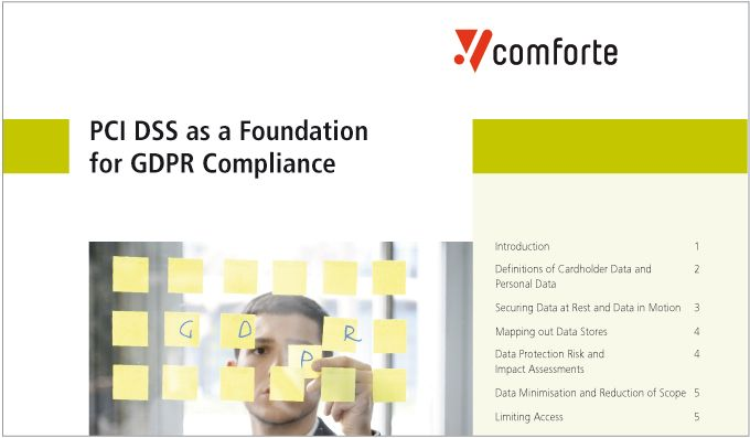 Whitepaper: PCI DSS as a Foundation for GDPR Compliance