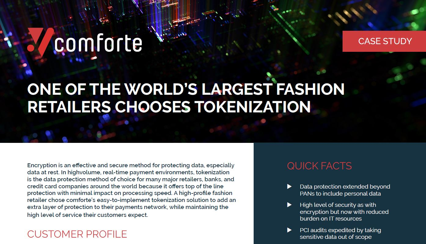 Success Story: One of the World's Largest Fashion  Retailers Chooses Tokenization