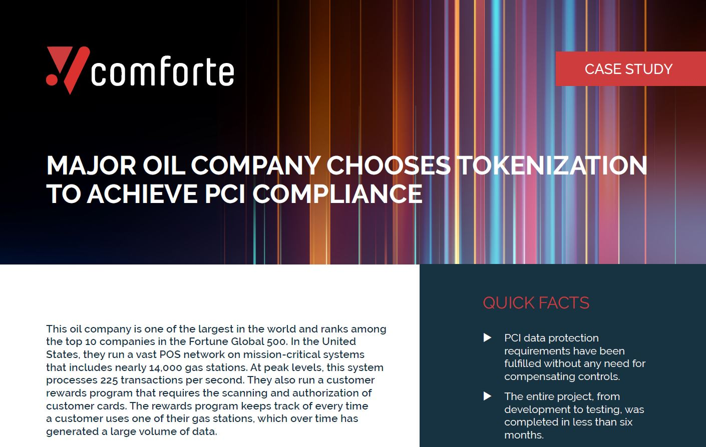 Major Oil Company Chooses Tokenization to Achieve PCI Compliance