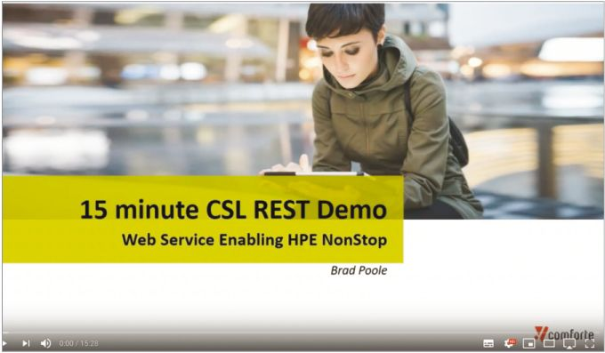 Webinar: How to create a REST service for an HPE NonStop application in 15mins