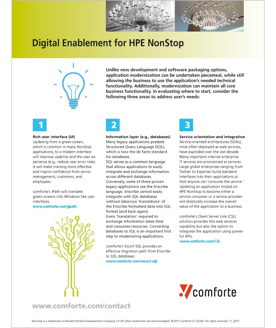 Fact sheet: Digital Enablement for HPE NonStop