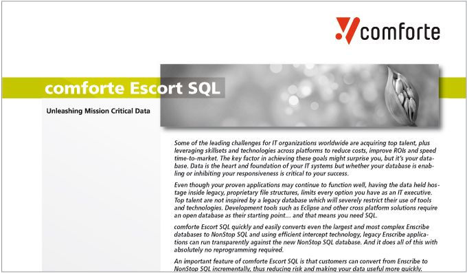 Fact sheet: Escort SQL