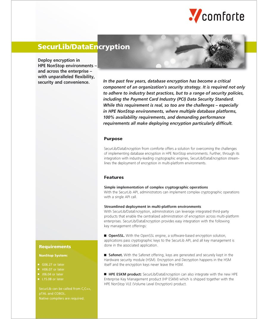 Fact sheet: SecurLib / DataEncryption