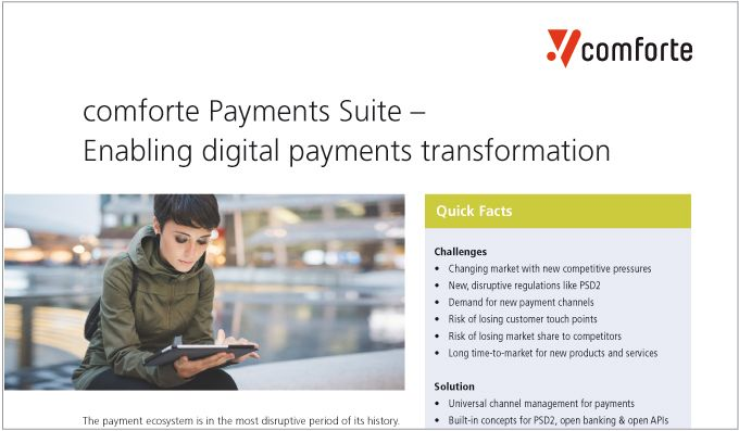 comforte Payments Suite – Enabling digital payments transformation