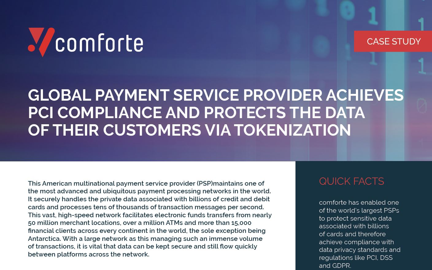 Global Payment Service Provider Achieves PCI Compliance with Data Protection
