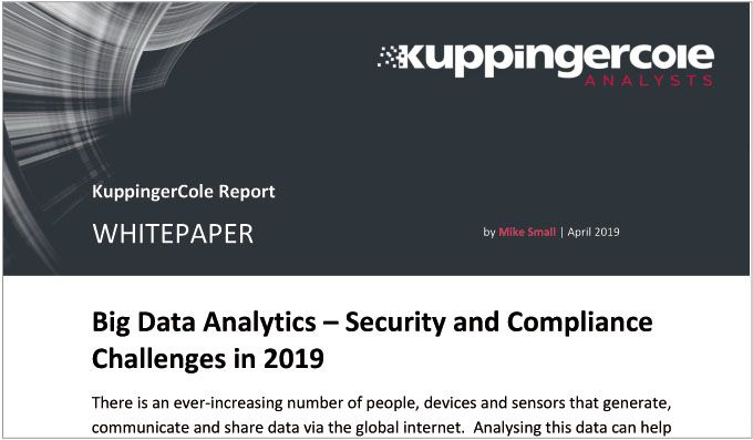 Big Data Analytics - Security and Compliance Challenges in 2019