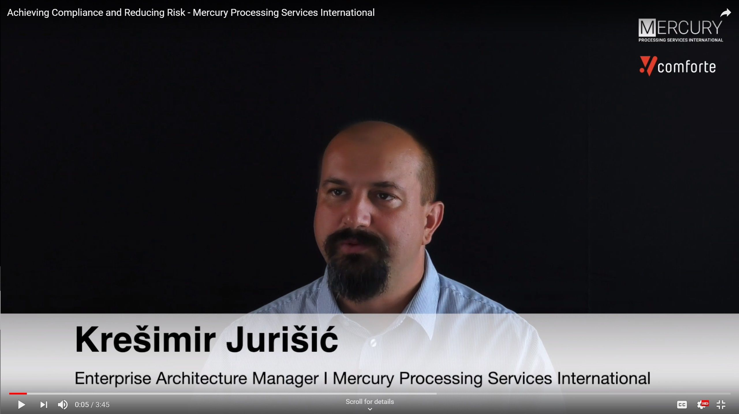 Video: Achieving Compliance and Reducing Risk - Mercury Processing Services International
